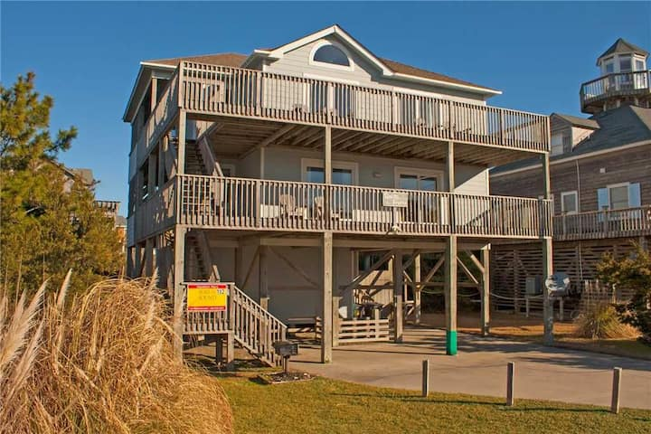 4 BR 4 Bath Beach House in Waves, Hatteras Island