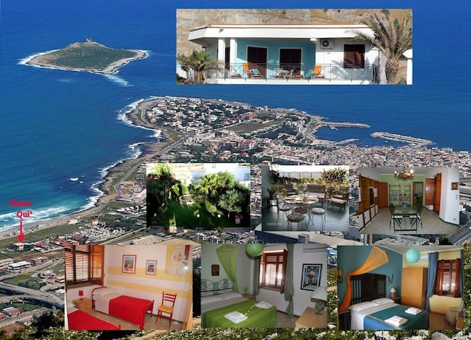 Bed and Breakfast Villa le 2 Palme - Isola delle Femmine - Bed & Breakfast
