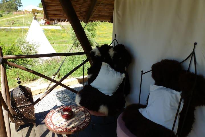 private varanda for the tent