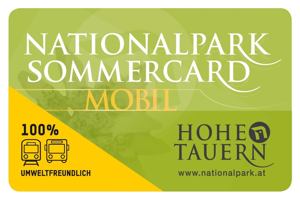 Free to all Haus Barber summer guests the National park Activity card