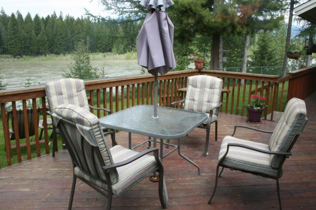 Sit and enjoy the view from the deck!