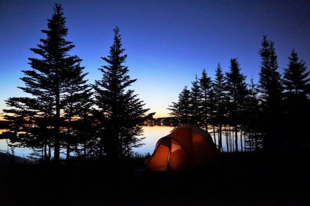 Camping at Experience Labrador Photo: K. O'Reill