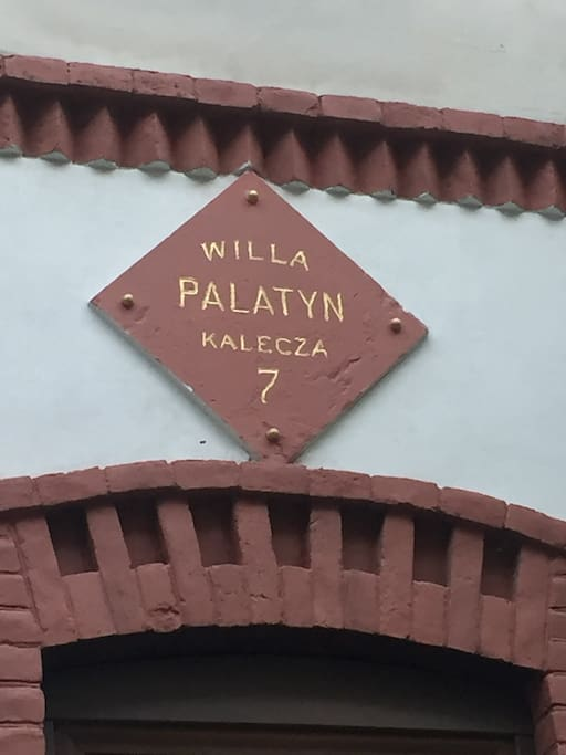 Street name plate from the Polish period