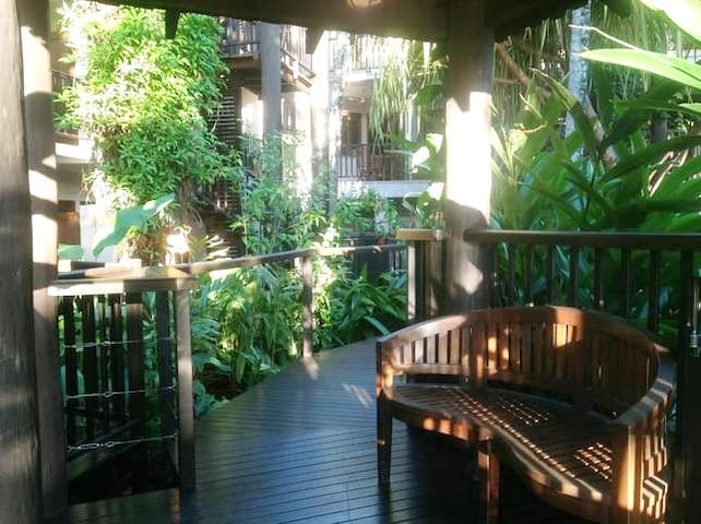 The walkways within the Resort