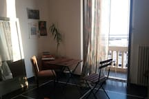 Camera degli ospiti con balconcino