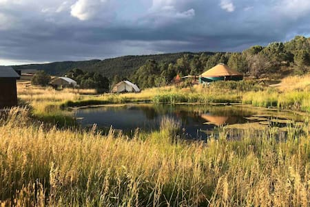"""1 of 23 Best Glamping Spots in U.S"" charming yurt"