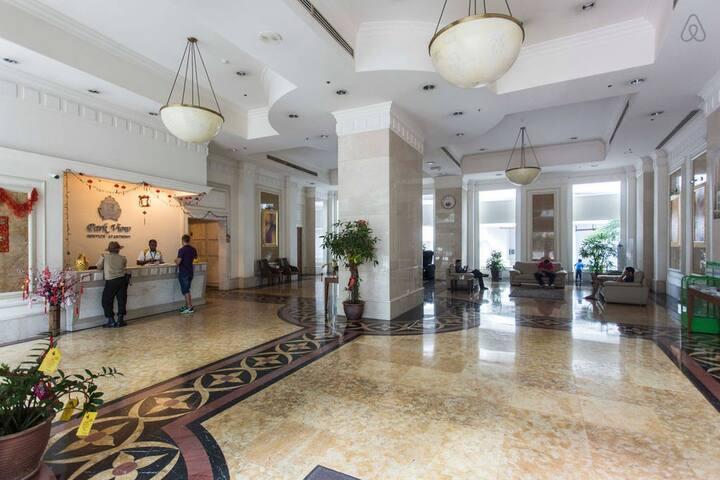 24 hrs security, Grand Lobby