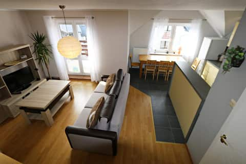 Dwupoziomowy Apartament z aneksem kuchennym