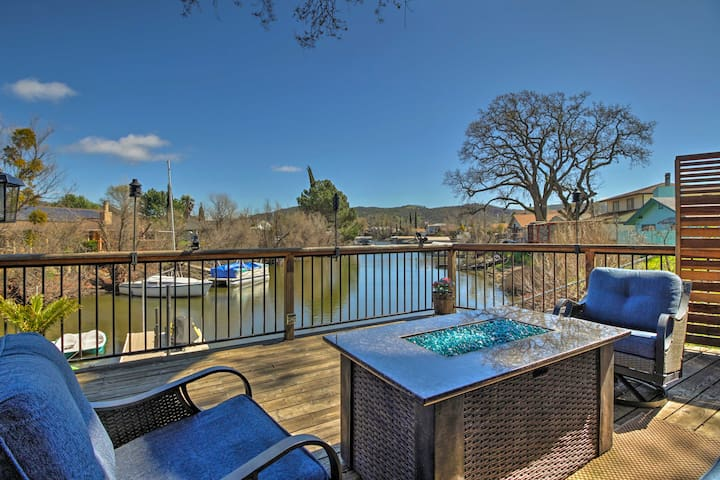 Turn on the gas fire pit and enjoy the views.