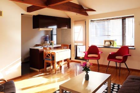 Near Shibuya: Bright Modern Room in Nakameguro - Meguro - Departamento