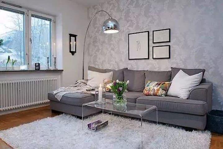 超好山顶风景的整套公寓,距离市中心10分钟地铁 - Stockholm - Apartment