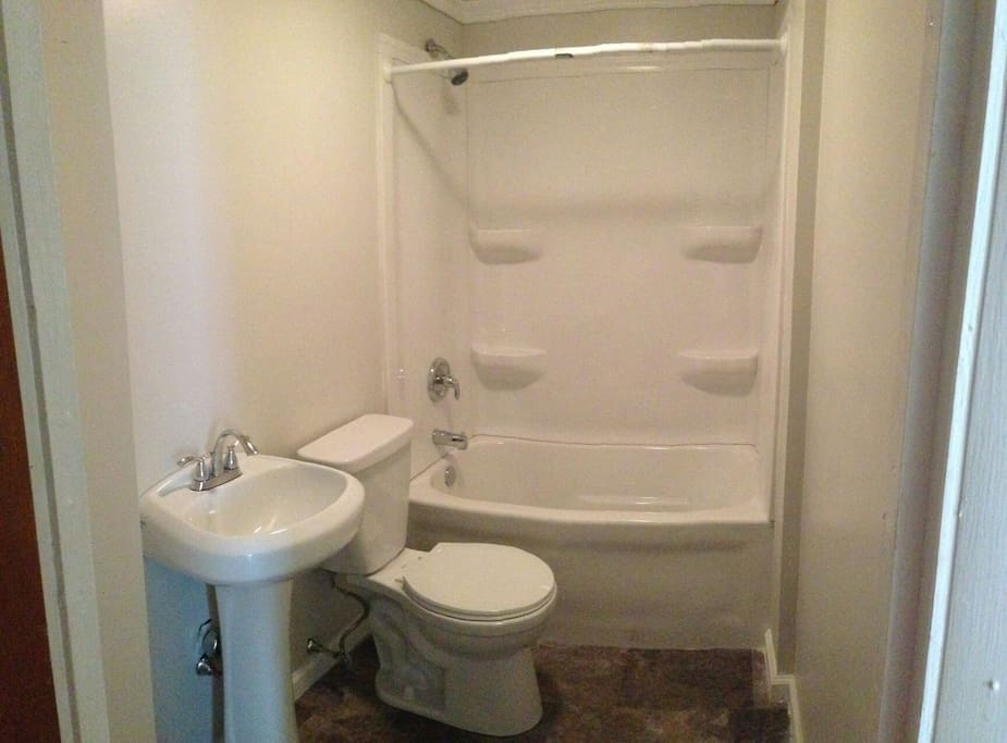 All new bathroom was installed about 1 year ago.