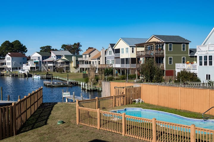 Rose Haven =Waterfront+Pool+2 Masters+Private Dock