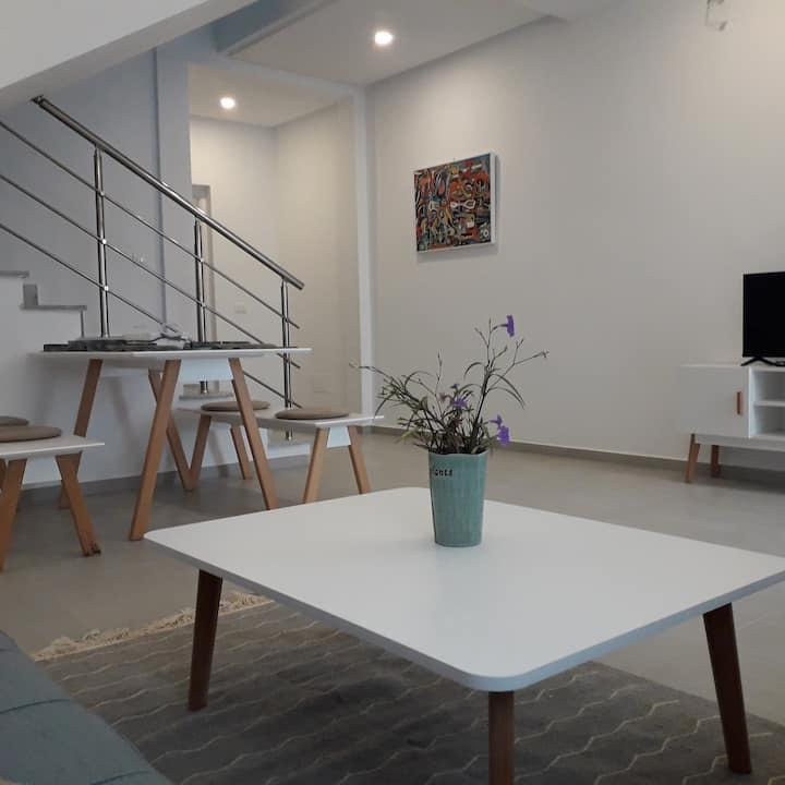 Bluhome1, Duplex chic et confortable