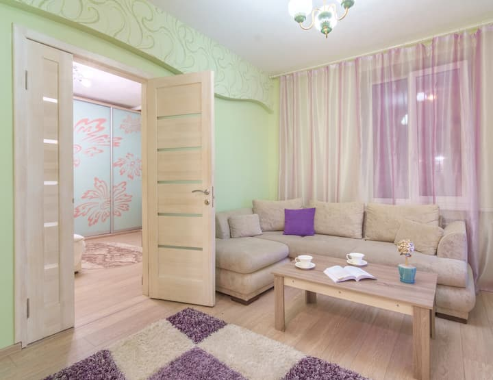 """Panorama"" 2 bedrooms flat in the city center"