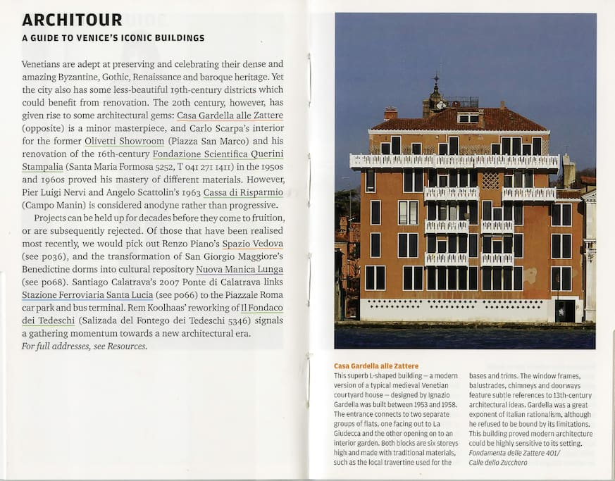 Extract from a Phaidon publication on the architecture in Venice.