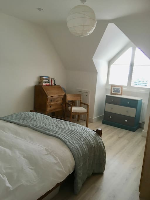 Another view of the main bedroom - taken on a gloomy day - it usually is flooded with lovely Brighton sun!
