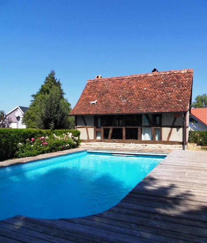 Maison chaleureuse Typique Alsacienne à colombage