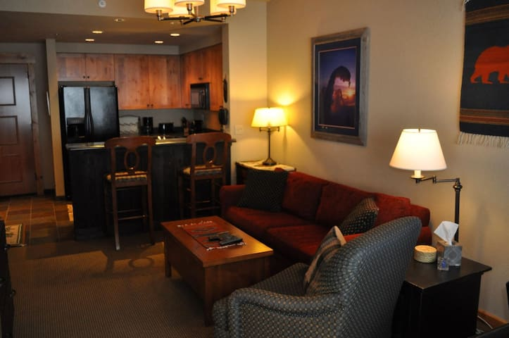 Slope Side View! 1 Bed/1 Bath, Ski-In/Out Condo in the Morning Eagle Lodge at Whitefish Mountain Resort