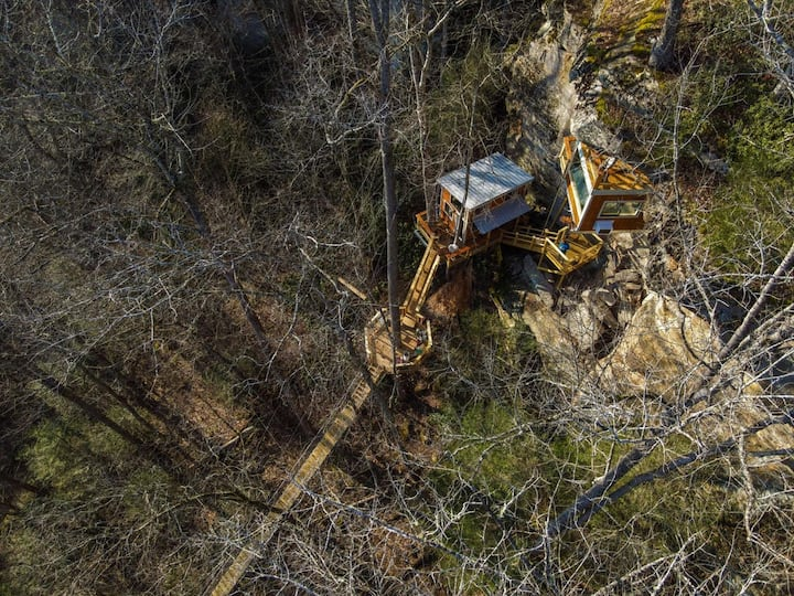 Cliff Dweller:  Spend a night Suspended from the Ridgeline!