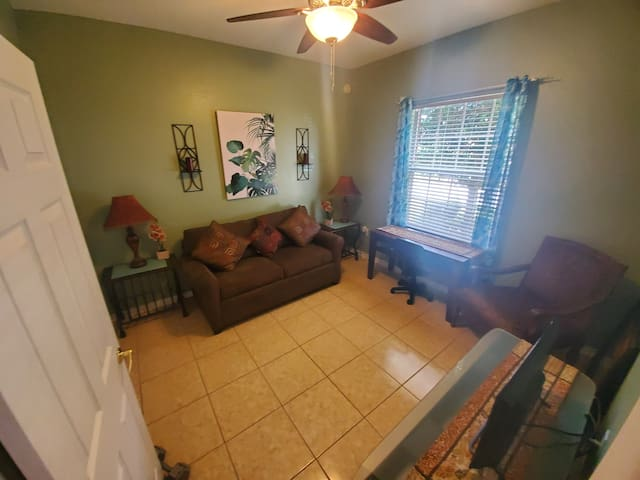 Another great room..Couch with a pull out bed.