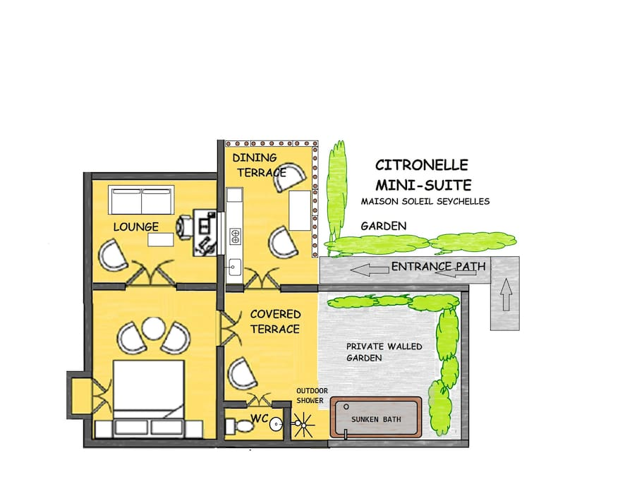 plan of Citronelle Suite