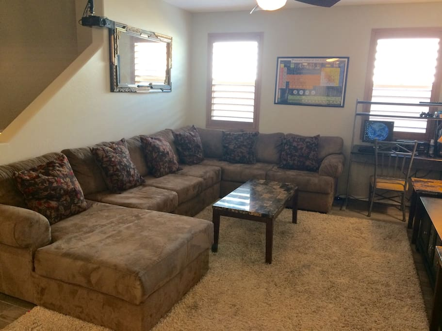 Enormous sectional seats 6 comfortably