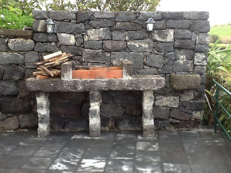 Churrasqueira no terraço