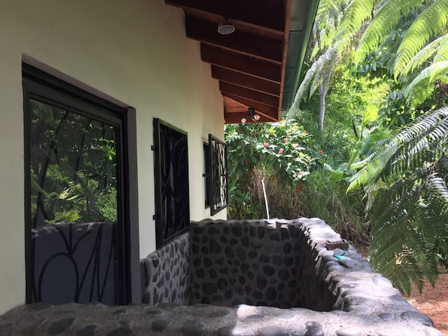 Master Bedroom's outdoor shower