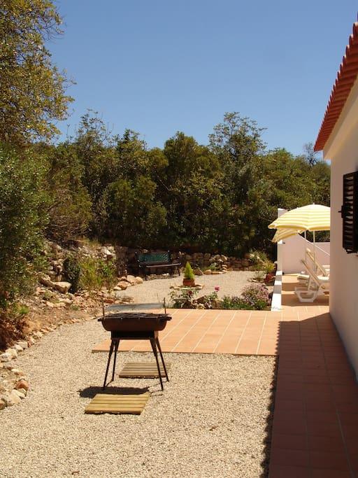 Rear BBQ terrace