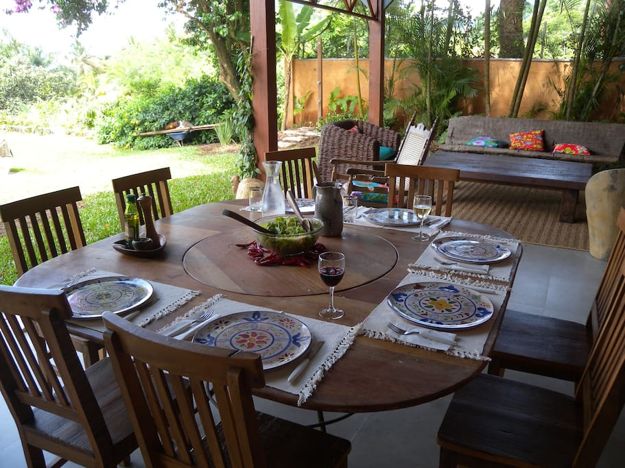 Mesa almoço externa