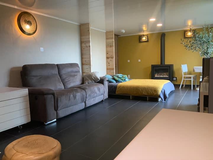 Les Baloûches Namur/ Chambre avec sauna