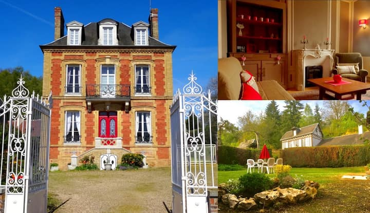 L'Ajoussienne. Mansion House in Normandy
