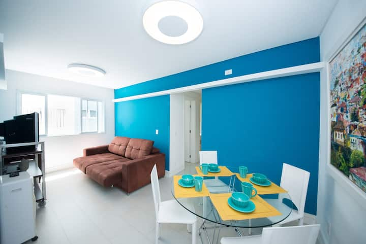 21A - Belo Apartamento/ Praia Grande - Ubatuba