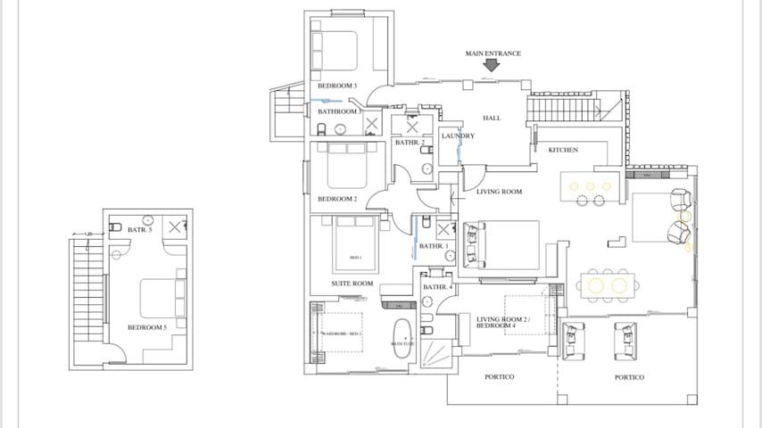Interior map of Villa Baires