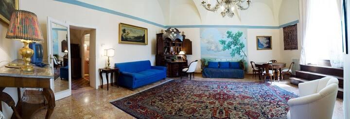 Suite EDERA , bagno, kitchinette salotto,