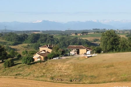 Romantic farmhouse gite for two, stunning location - Labastide-Paumès - Lejlighed