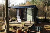 our cabin with covered decking area