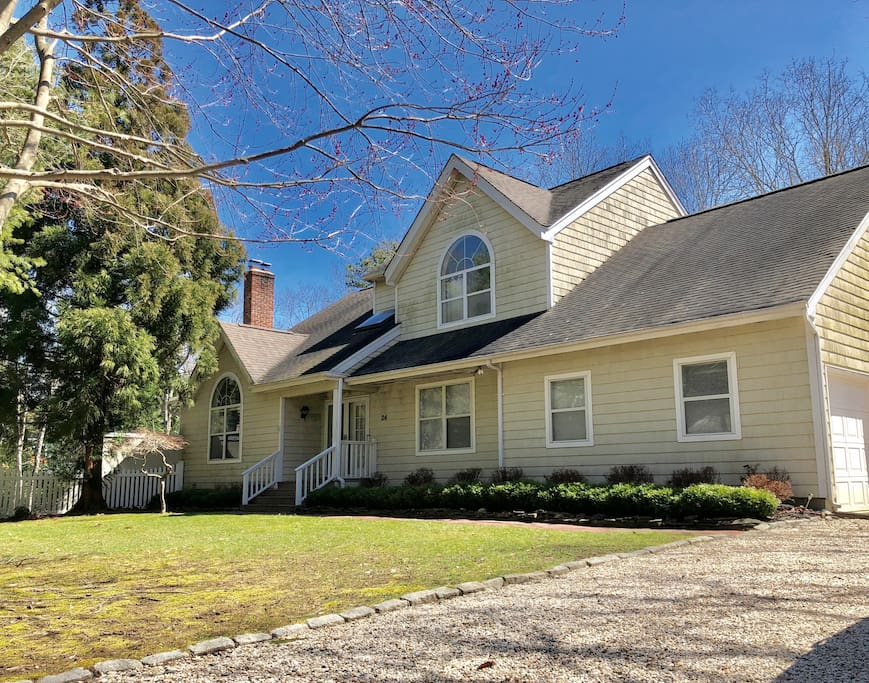 The spacious home offers what you wish of in central East Hampton location.