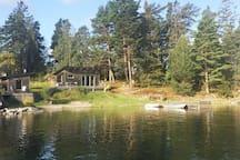 Sjöstuga  Kvarnholmen/Muskö 2 gäster - 1 rummare inkl. kök - dusch - bastu