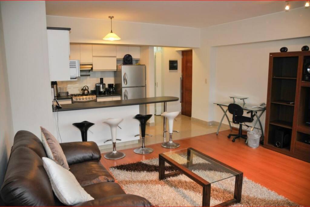 "Calle Tripoli 101, Miraflores 15074, Peru ""Edificio Sisley"" _ Living room"