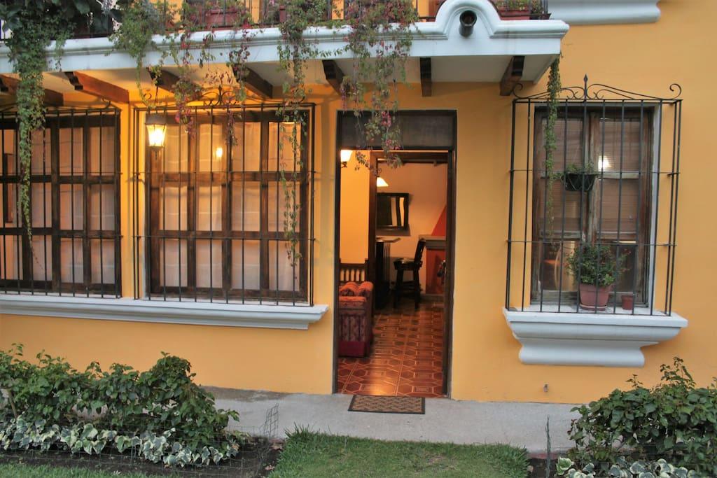 Villa's front door