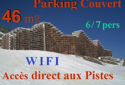 46m2 -7 pers - Garage couvert -WIFI -Ski aux pieds - Apartment