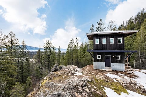 Nostalgic Fire Tower Lookout at base of Schweitzer