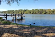 Beautiful view of Lake Ibis. Just down the road from our unit.