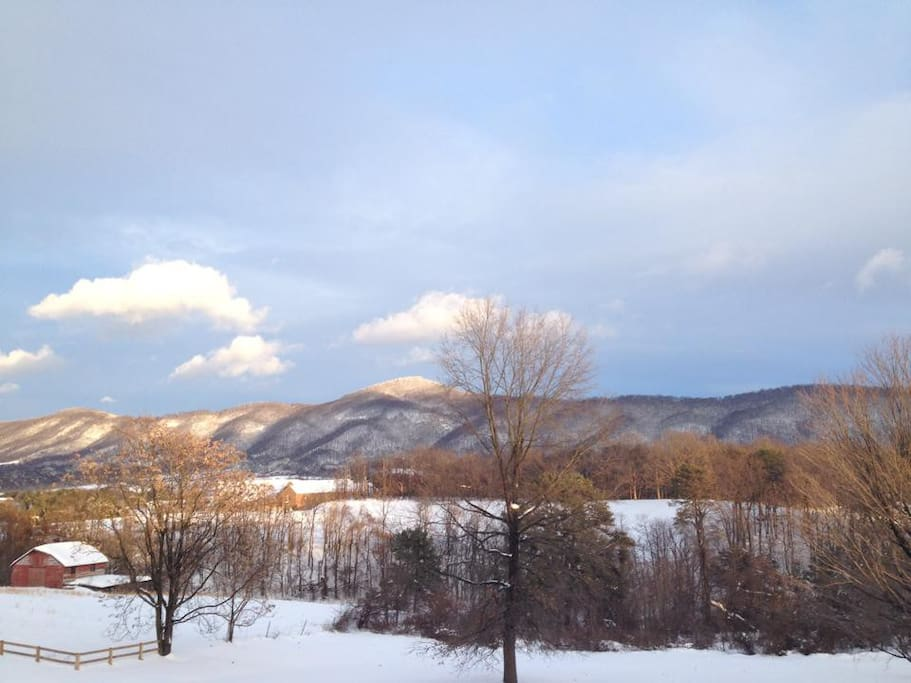 View looking southeast towards Blue Ridge Parkway