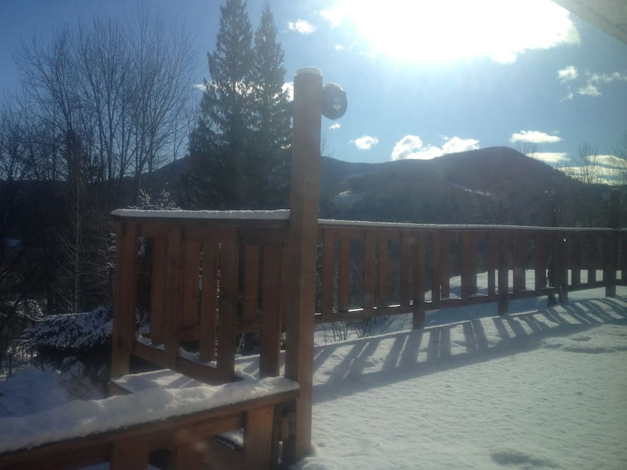 Large south-east morning sun outdoor deck 25ft x 10ft.