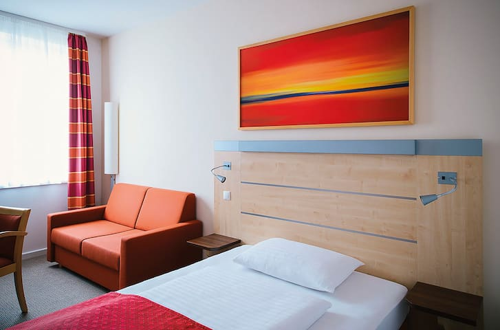 Privacy of your own room with hotel comfort