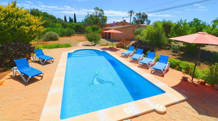 Can Cova, wifi free, private pool
