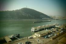 The Danube river from our balcony! ❤️